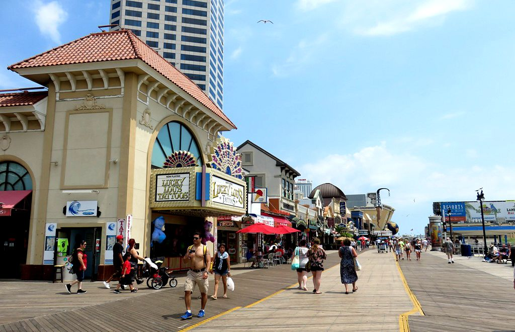 Atlantic City: casino's aan de boardwalk