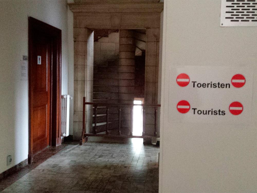 Verboden voor toeristen