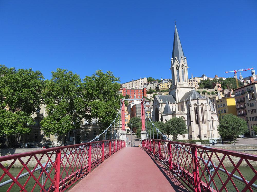Lyon voetgangersbrug