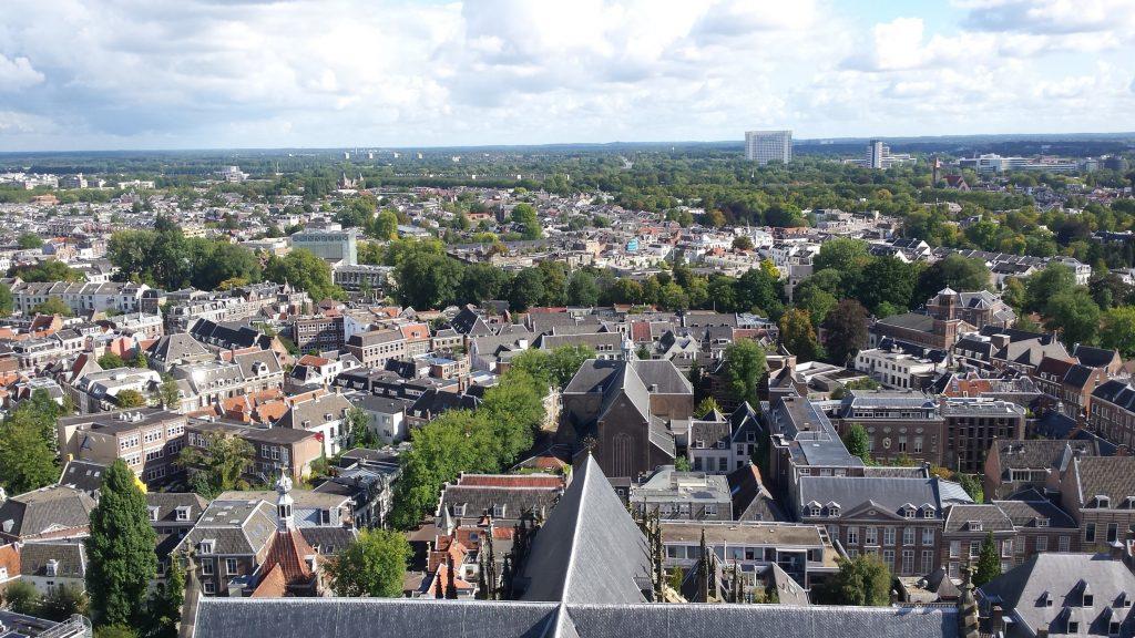 Uitzicht vanaf de Dom in Utrecht