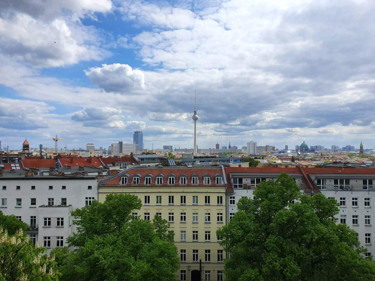 Uitzicht Zionskirche Berlijn